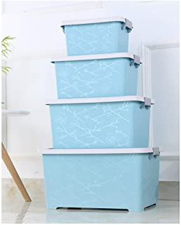 KANGJIABAOBAO Toy Storage Box Book And Toy Organizer For Organizing Toy Storage Baby Toys Kids Toys Dog Toys Baby Clothing Children Books Blue Childrens Toy Box  Color Blue  Size Free size
