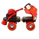 Azone SKR StainlessSteel Shoe Racer Quad Roller Skates, 1622 UK (Red, Black)