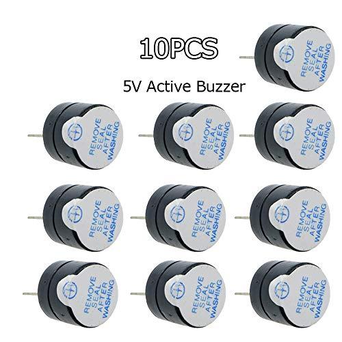 Lowest Prices! 10pcs 5v Active Buzzer Magnetic Long Continous Beep Tone Alarm Ringer 12mm Mini Activ...