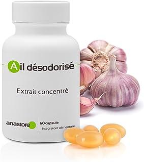 AJO DESODORIZADO * 60 cápsulas * Cardiovascular (tensión), Inmunitario (antimicrobiano, estimulación de defensas naturales) * Garantía de satisfacción o reembolso * Fabricado en Francia