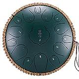 Tambores metálicos de Trinidad y Tobago Tambor hueco de pintura galvanizada de 12.5 pulgadas, piano, material de soldadura de acero al carbono Sanscribt tambor hueco, aproximadamente 2 cm Tambor sin p