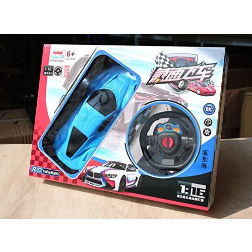 DishyKooker 1:24 2CH afstandsbediening racewagen simulatie RC voertuig model met wiel geschenkdoos kinderspeelgoed willekeurige kleur