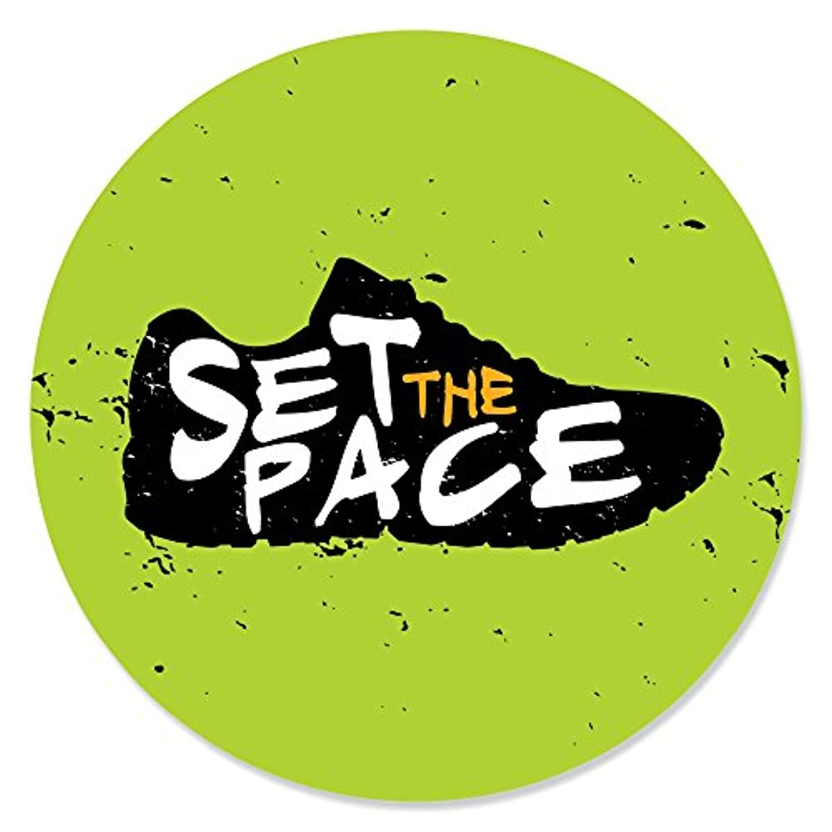 Set The Pace - Running - Track, Cross Country or Marathon Party Circle Sticker Labels - 24 Count