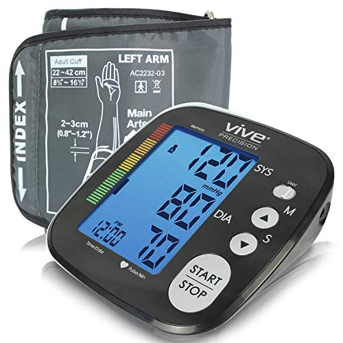 Lowest Price! Vive Precision Blood Pressure Machine - Heart Rate Monitor - Automatic BPM Sphygmomano...