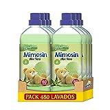 Mimosin Suavizante Concentrado Aloe Vera 60 lavados, Paquete de 8 x 1.2 l