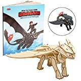 DreamWorks How to Train Your Dragon Toothless 3D Wood Puzzle...