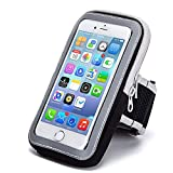 Cecety TM Outdoor Sport Running Sweatproof Armband Phone Holder Pouch for Samsung Galaxy S20 / Note10 / A10 / A20 / A50 / iPhone 11/11 Pro Max/Google Pixel 4 / OnePlus 7 / Razer Phone 2 (Black)