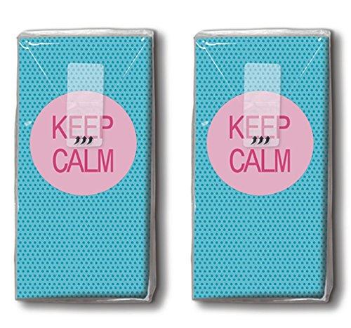 20 zakdoeken (2 x 10) Keep Calm/zakdoeken met motief