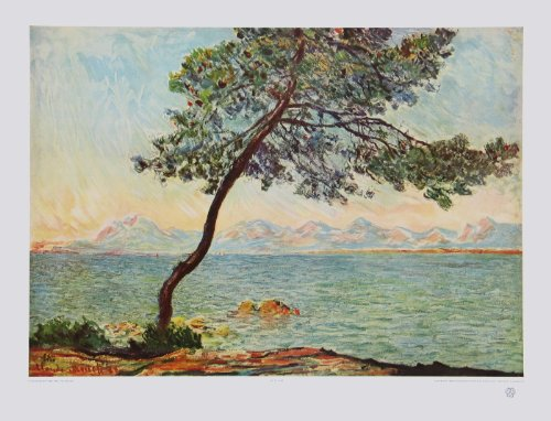 Kunstdruck / Poster Claude Monet - Cap d'Antibes - 65.0 x 49.8cm - Premiumqualität - Impressionismus, Meeresbrise, Küste, Südfrankreich, Cote d' Azur, Dunst, Natur, Schlafz.. - MADE IN GERMANY - ART-GALERIE-SHOPde