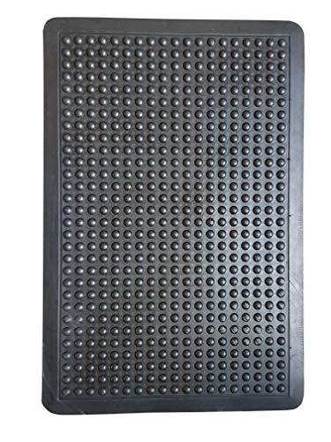 PROGOM Tapis Anti-Fatigue Caoutchouc à Bulles- Haute qualité- Antidérapant- 3 Tailles (120cm x 90cm x 1.4cm)