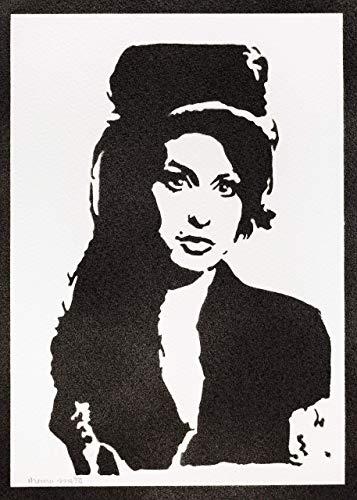 Poster Amy Winehouse Grafiti Hecho a Mano - Handmade Street Art - Artwork