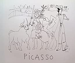 Wall Art by Marina Picasso Chevalier Picador Dans L'ar Limited Edition Lithograph Print. After the Original Painting or Drawing. Pablo Paper 23 Inches X 29