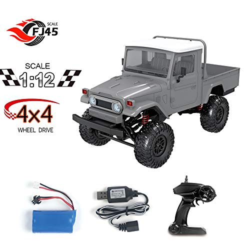 GoolRC MN-45 RC Crawler 2.4G 4WD Racing Off-Road Truck 4x4 1/12 Scale RC Car Fast High Speed Electric Vehicle with Led Light for Kids and Adults RTR