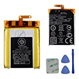 Replacement Battery C11N1502 Compatible with Asus Zenwatch 2 WI501Q with Tools