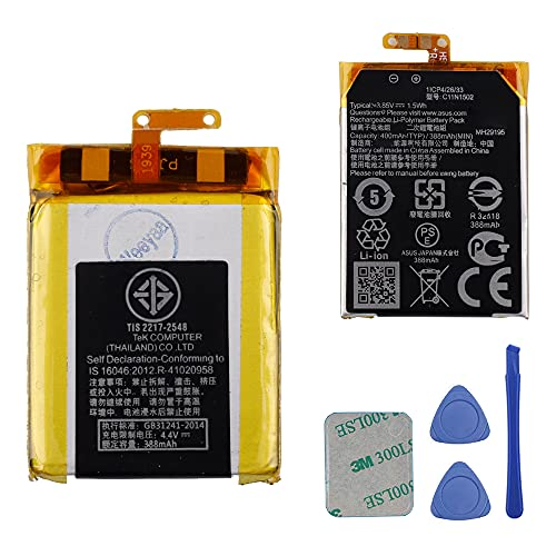 Replacement Battery C11N1502 Compatible with Asus Zenwatch 2 WI501Q...