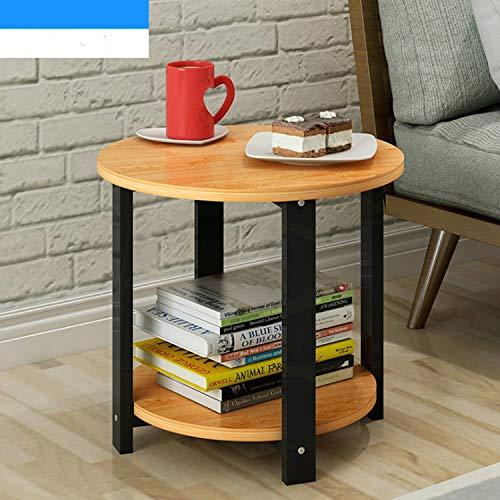 HUANGMENG Productos de calidad Mesa de centro de madera for el hogar de tamaño pequeño Simple Sala de estar moderna Sofá Dormitorio Mesa de té redonda, Tamaño: 50 * 50 * 43 cm (madera de cerezo de arc
