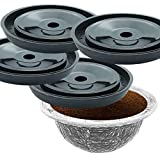 4 REUSABLE COFFEE CAPSULE DISCS: refillable for VERTUOLINE & VERTUO capsules, compatible with NESPRESSO VERTUOLINE & VERTUO pods, 4 DISC SET for capsule SIZE 1.35/2.70/5.07/7.77/14.00 FL OZ