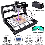 MYSWEETY 2-in-1 DIY CNC 3018-PRO 3 Axis CNC Router Kit with 5500mW 5.5W Module + PCB Milling, Wood Carving Engraving...
