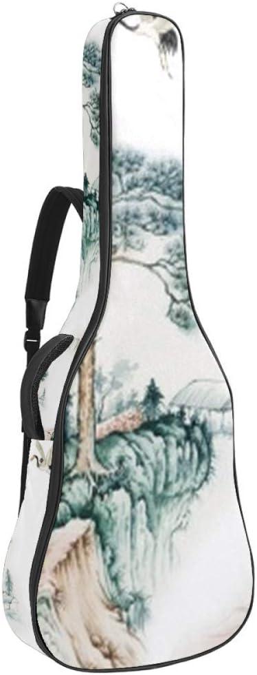 Guitar Gig Bag Waterproof Zipper Bass Raleigh Mall Time sale Soft Backpack Acou