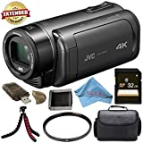 JVC Everio GZ-RY980HUS Quad-Proof 4K Camcorder with 10x Optical Zoom (Gray) + 32GB...