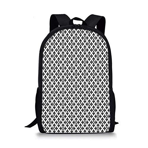 HOJJP ñ mochila escolar von ruedas Ocean Animal Decor Stylish School Bag,Tropical Coralwith Seaweed Algae Jellyfish Aquatic Saltwater Nemo Theme for Boys,11