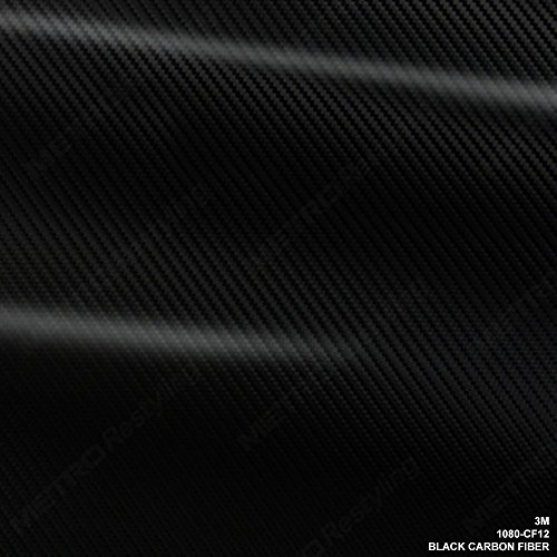 3M 1080 CF12 BLACK CARBON FIBER 5ft x 1ft (5 Sq/ft) Car Wrap Vinyl Film