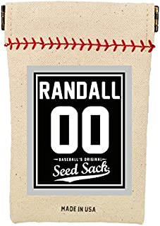 Baseball's Original Seed Sack for Sunflower Seeds (Includes 6 one Ounce Packs) Fits in Your Back Pocket. Take it on The Field!