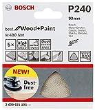 Bosch Professional 2608621195 5 Triangles de Ponçage M480 Best for Wood and Paint (Bois et Peinture,...