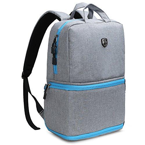 Koolertron Zaino per fotocamera Professionale Impermeabile Backpack Outdoor Viaggio per Canon Nikon Sony(Argento)