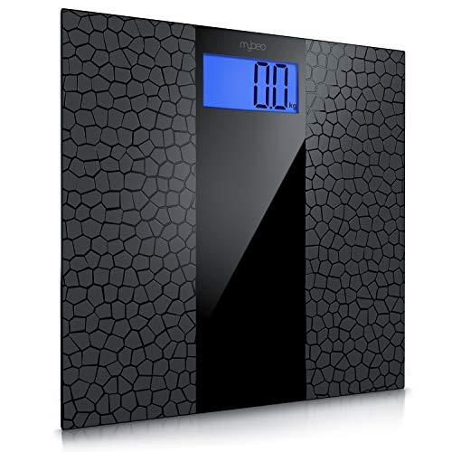 MyBeo - digitale Personenwaage im Slim Design - Körperwaage - Anti-Rutsch Beschichtung - großes LCD-Display, max. 180 kg, Messauflösung 0,1 kg, automatisches Ein- und Ausschalten - weight scale