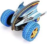 Control remoto Coche de juguete 2.4Ghz Radio Control remoto Giratorio Stunt Car Gran carga Volquete Camión RC Coche Alta velocidad Off-Road Racing Car para niños Juguetes Regalo (Color: azul, tamaño: