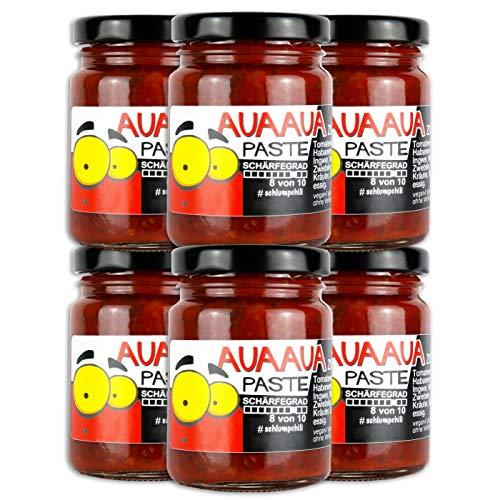 Schlump-Chili AUA AUA® XL Habanero Chili Paste mit Ingwer im 6er Set Sixpack (6 x 90g)