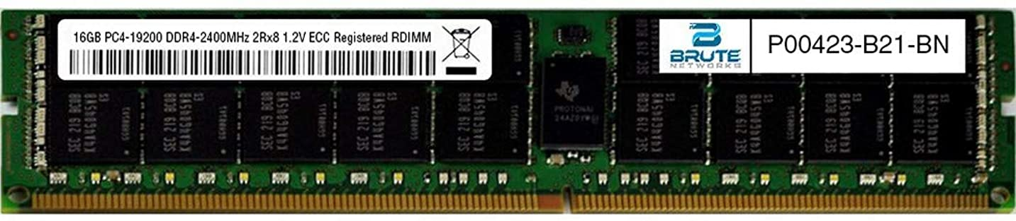 なすオセアニア正当化するBrute Networks P00423-B21-BN - 16GB PC4-19200 DDR4-2400MHz 2Rx8 1.2V ECC Registered RDIMM (OEM PN # P00423-B21に相当)