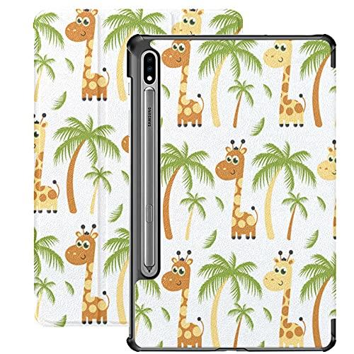 Giraffe Beautiful Animal Funda para Tableta Samsung para Samsung Galaxy Tab S7 / s7 Plus Funda Samsung Galaxy Tab E con Soporte Funda Trasera Samsung Galaxy S7 Plus Funda para Galaxy Tab S7 11 pulgad