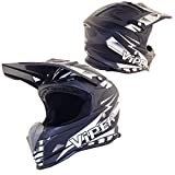Viper RSX121 Casco de Motocross para Moto Enduro Aventuras ATV MTB UTV MX Pit Mini Bici Protector (Negro, XS (53-54 CM))