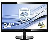 Philips Monitores 246V5LHAB/00 - Monitor de 24' (resolución 1920 x 1080 Pixels, tecnología WLED, Contraste 1000:1, 1 ms, VGA), Color Negro