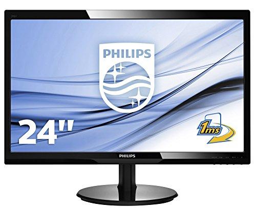 Philips 246V5LHAB/00 61 cm (24 Zoll) Monitor (VGA, HDMI, DVI, TN Panel, 1920 x 1080, 60 Hz, mit Lautsprecher) schwarz