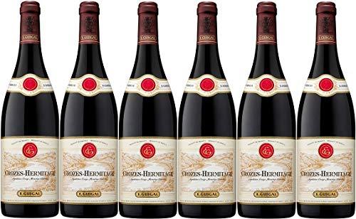 E. Guigal Rotwein aus Frankreich Weinpaket Crozes Hermitage Rouge 2015 (6 x 0,75 Liter)