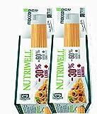 Spaghetti - Pasta proteica 2 paquetes (2 x 500 g) Maccarozone Nutriwell Ciao Carb Zona