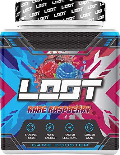 NEU | LOOT® - Premium Game Booster mit Flow-State® Formel | 50 Servings (400g) mit Koffein | 20 hochdosierte Inhaltsstoffe | Unique Design | Konzentration Ausdauer Reaktionsfähigkeit | Rare Raspberry