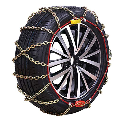 AWJ Cadena de Nieve para automóvil - Cadena de neumático Antideslizante Cadena de Nieve de Invierno Cadena de Emergencia Adecuado para la mayoría de los Camiones SUV aut
