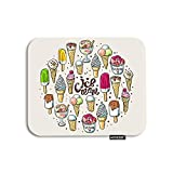 AOYEGO Ice Cream Mouse Pad Summer Desert Chocolate Cherry Fruit Sweet Food Gaming Mousepad Rubber Large Pad Non-Slip for Computer Laptop Office Work Desk 9.5x7.9 Inch