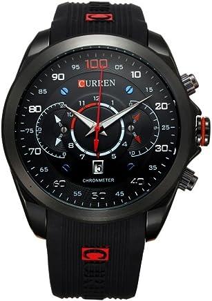 Relojes de Hombre Cronógrafo Reloj Hombre Men De Cuarzo De Moda para Caballeros RE0114