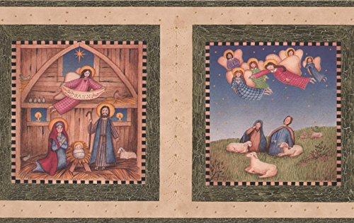 Hosanna Christian Religious Beige Wallpaper Border, Roll 15' x 7''