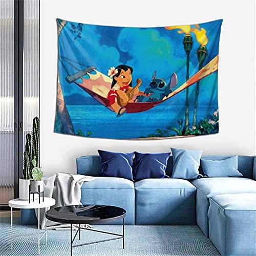 Lilo Stitch - Tapiz para colgar en la pared, dormitorio o sala de estar, 152 x 100 cm
