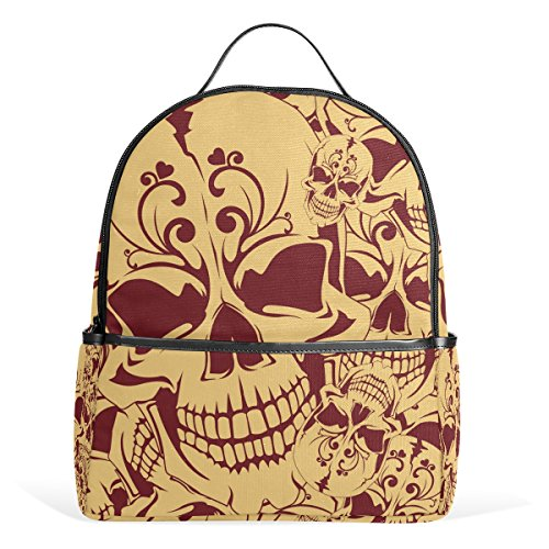 TIZORAX Vintage Dead Skull Laptop Backpack Casual Shoulder Daypack for Student School Bag Handbag - Lightweight