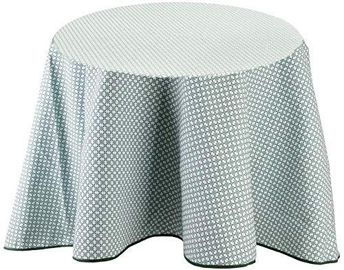 Nappe à motifs pour table ronde 180 cm Feuillage