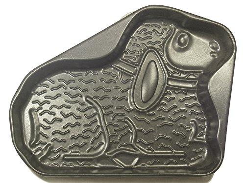 Vespa Moule à gâteaux en agneau, antiadhésif, anthracite, 35 x 28 x 5 cm, en aluminium