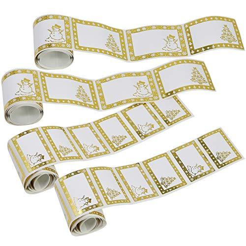 com-four® 120x Geschenkaufkleber für Weihnachten in Zwei Größen, selbstklebend (120 Stück - Aufkleber)