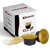 Biespresso, Cápsulas compatibles con Caffitaly, café y ginseng, 50 cápsulas + kit de accesorios (paletas y vasos)